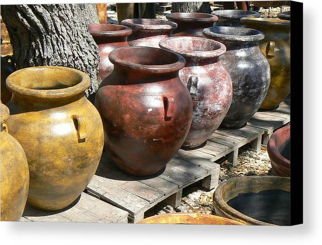 Pots Canvas Print featuring the photograph Mexican Pots V by Scott Alcorn