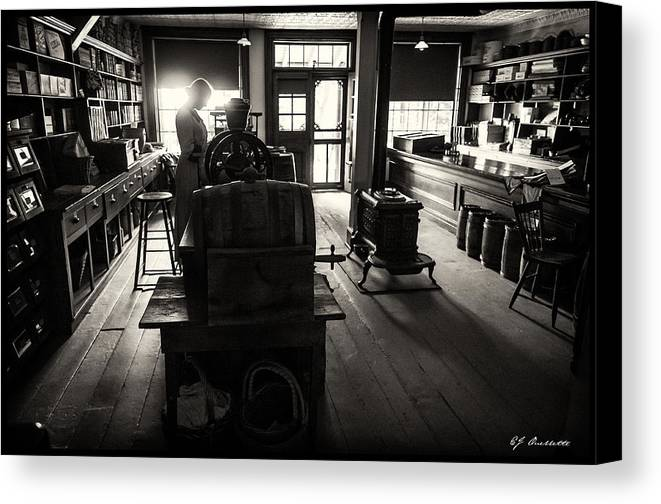 Sewing Canvas Print featuring the photograph Millinary Store by EJ Ouellette