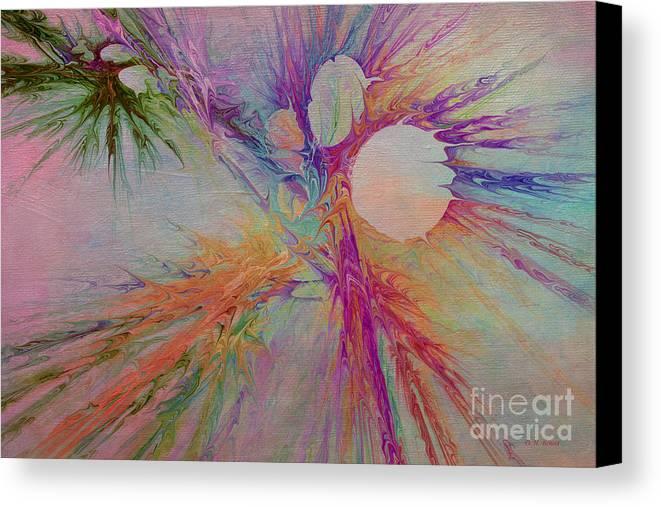 Abstract Canvas Print featuring the digital art Mind Energy Aura by Deborah Benoit