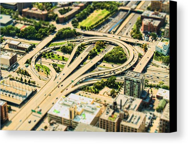 Road Canvas Print featuring the photograph Mini Motorway by Andrew Paranavitana