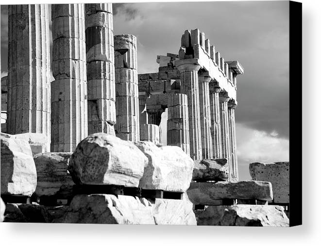 Athens Canvas Print featuring the photograph Mono Piles Of Stones Before Ruined by Nick Dale