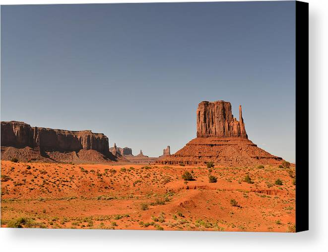 Monument Canvas Print featuring the photograph Monument Valley - Beauty Created By Nature by Christine Till