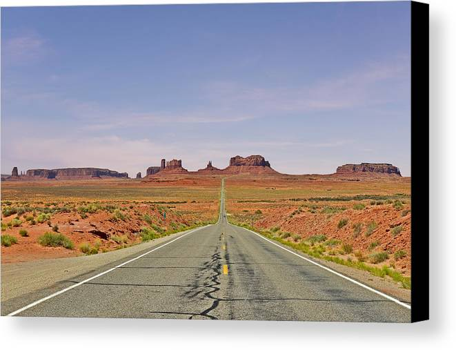 Monument Canvas Print featuring the photograph Monument Valley - The Classic View by Christine Till