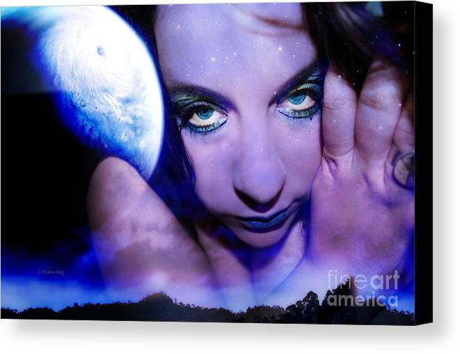 This Image Is  Heather King. You May Not Use This Or Any Of My Images (in Whole Or In Part). All Rights Reserved. Canvas Print featuring the photograph Moon Intoxication by Heather King