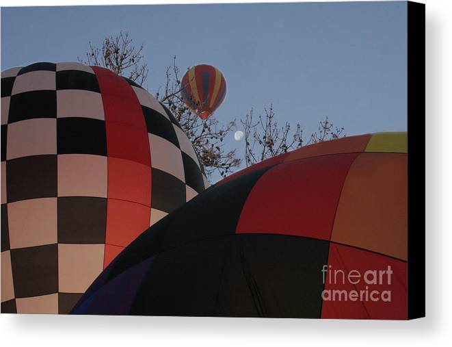 Balloons Canvas Print featuring the photograph Moon Rising by Paul Anderson