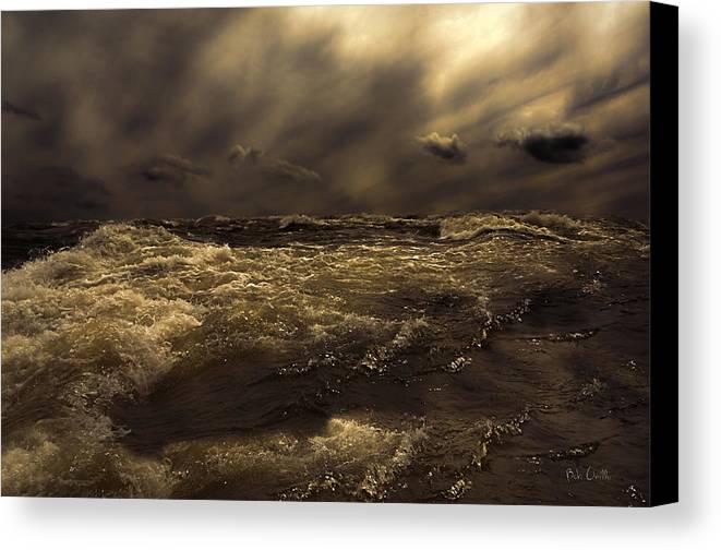 Seascape Canvas Print featuring the photograph Moonlight On The Water by Bob Orsillo