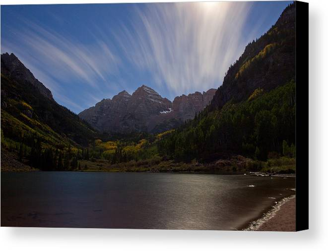 Moonlight Canvas Print featuring the photograph Moonlit Bells by Dawn Morrow
