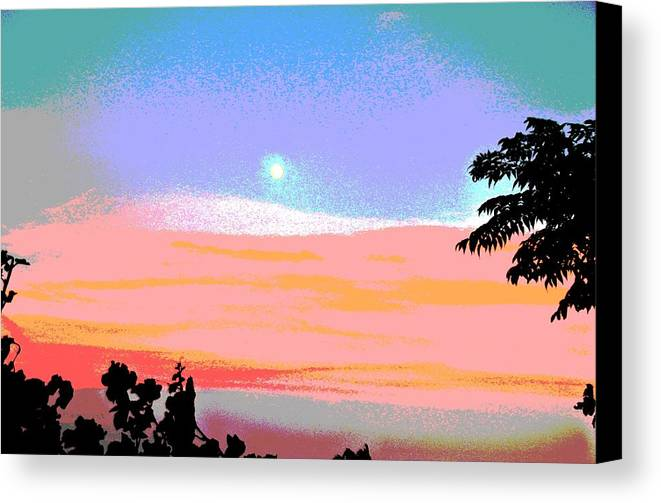 Scenic Canvas Print featuring the photograph Moonrise Three by Douglas Settle