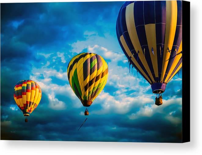 Hot Air Balloon Canvas Print featuring the photograph Morning Flight Hot Air Balloons by Bob Orsillo