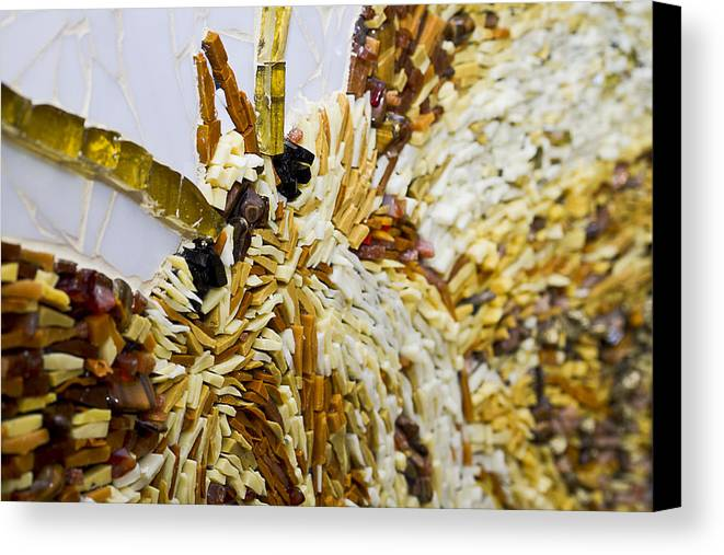 Mosaic Canvas Print featuring the glass art Moth A Million Pieces by Genna Wise
