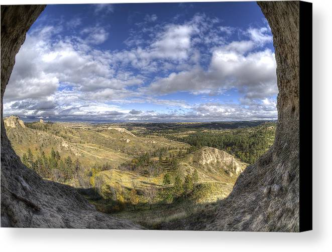 Canvas Print featuring the photograph Mother Nature's Hole by Trent Roberts