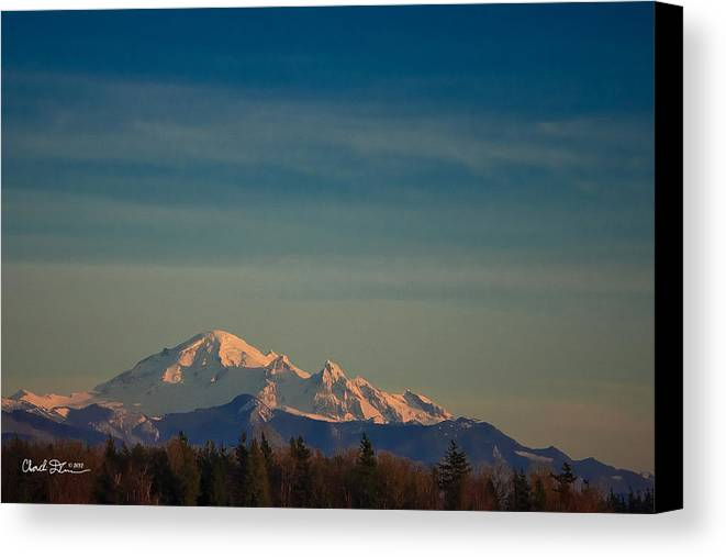 Mountain Canvas Print featuring the photograph Mount Baker Sunset by Charlie Duncan