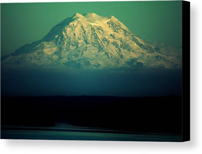 Mount Rainier Canvas Print featuring the photograph Mountain Majesty by Benjamin Yeager