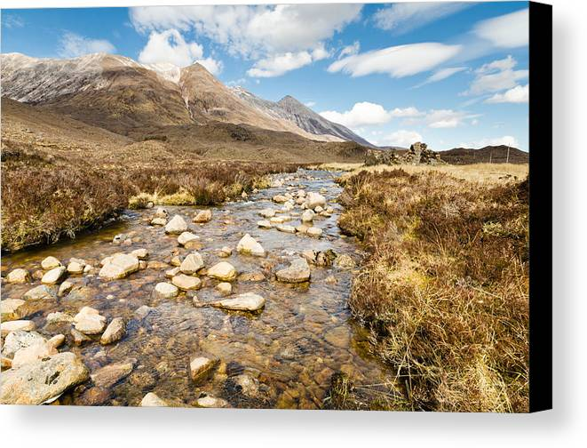Beck Canvas Print featuring the photograph Mountain Stream From Beinn Eighe by David Head