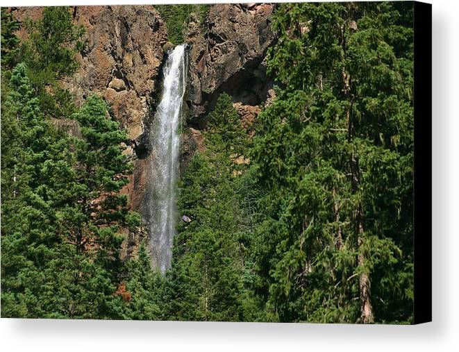 Nature Canvas Print featuring the photograph Mountain Waterfall by Rob McCauley