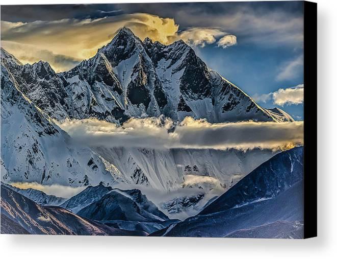 Mount Lhotse Canvas Print featuring the photograph Mt Lhotse by David Danz