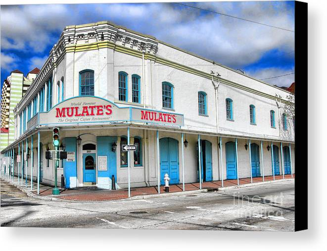 Mulates Canvas Print featuring the photograph Mulates New Orleans by Olivier Le Queinec