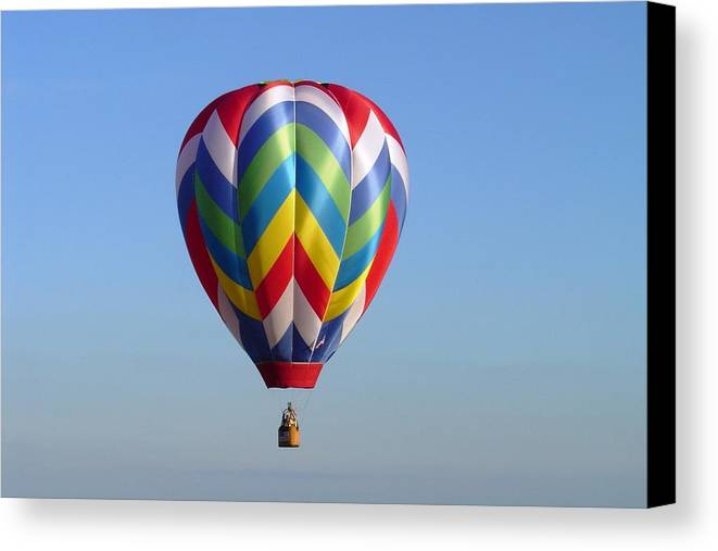 Hot Air Balloon Canvas Print featuring the photograph Multi-color Balloon by Barry Bennett