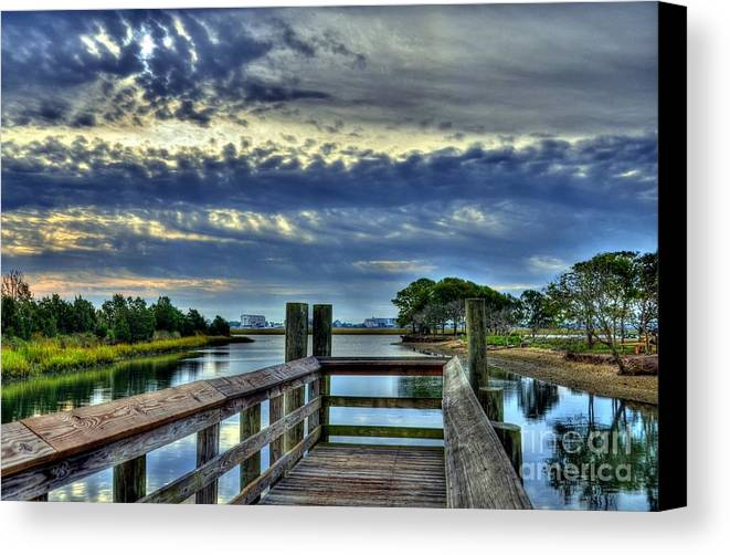 Landscapes Canvas Print featuring the photograph Murrells Inlet Morning 2 by Mel Steinhauer