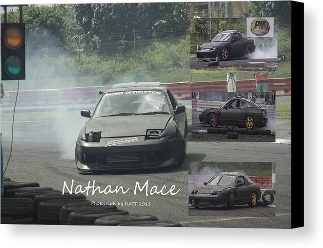 Cars Canvas Print featuring the photograph Nathan Mace by Michael Podesta