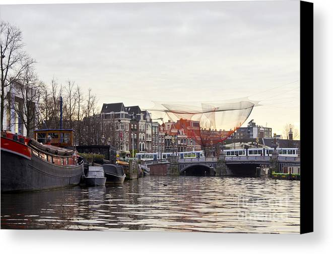Amsterdam Canvas Print featuring the digital art Nets by Pravine Chester