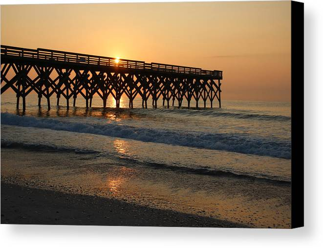 Crystal Pier Canvas Print featuring the photograph New Crystal Pier by Phil Mancuso