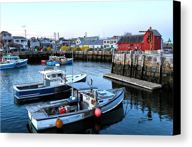 Harbor Canvas Print featuring the photograph New England by Mitch Cat