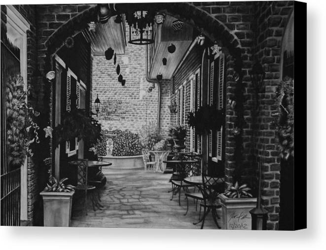 New Canvas Print featuring the drawing New Orleans by Jared Stone
