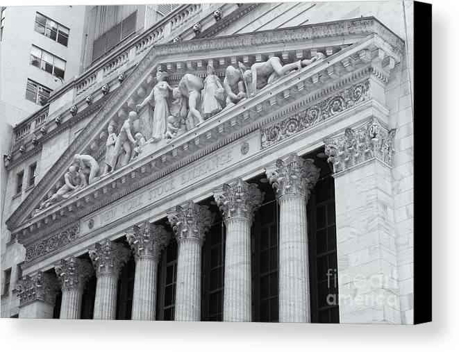 Clarence Holmes Canvas Print featuring the photograph New York Stock Exchange II by Clarence Holmes