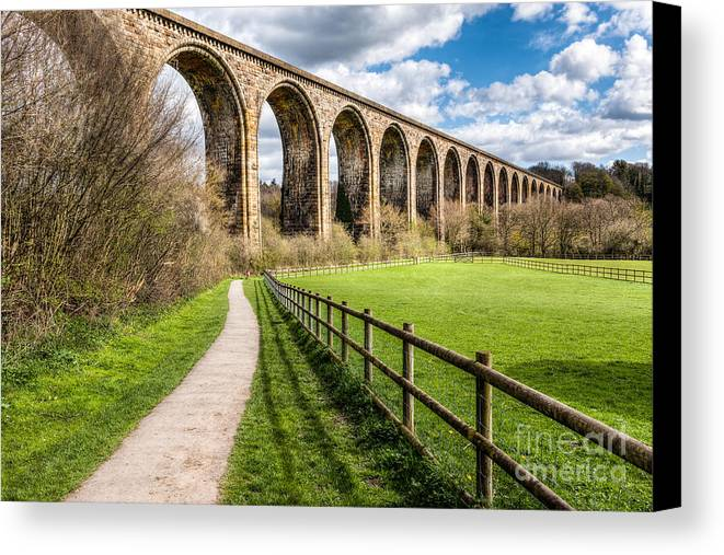 Arch Canvas Print featuring the photograph Newbridge Viaduct by Adrian Evans