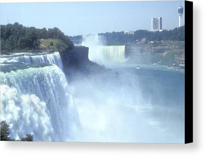 Landmark Canvas Print featuring the photograph Niagara Falls - New York by Mike McGlothlen