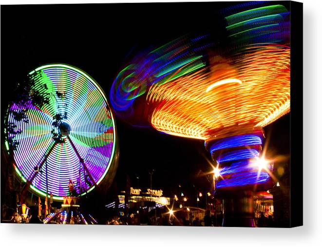 Fair Canvas Print featuring the photograph Night Lights by Caitlyn Grasso