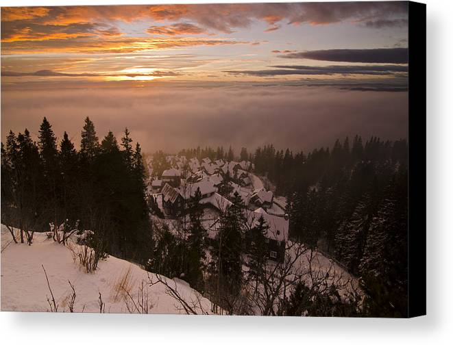 Norway Canvas Print featuring the photograph Norge by Aaron Bedell