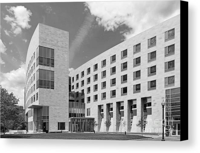 African-american Institute Canvas Print featuring the photograph Northeastern University O' Bryant African American Institute by University Icons