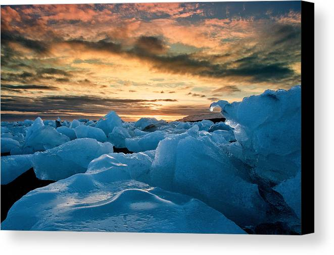 Iceland Canvas Print featuring the photograph Northern Exposure by Jim Southwell