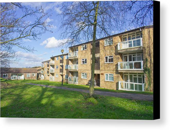 Apartment Canvas Print featuring the photograph Norwich Apartments by Tom Gowanlock