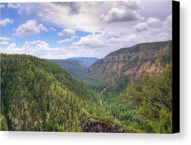 Oak Canvas Print featuring the photograph Oak Creek Canyon by Ricky Barnard