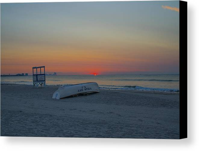 Ocean Canvas Print featuring the photograph Ocean City New Jersey Sunrise by Bill Cannon