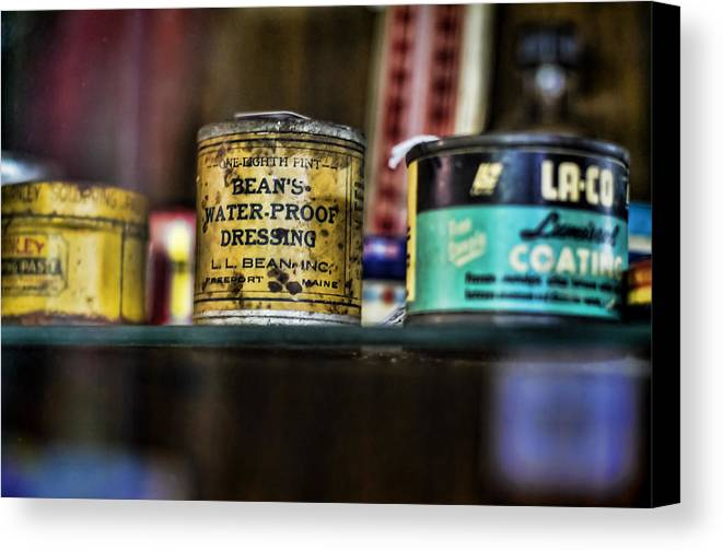 Bean's Canvas Print featuring the photograph Old Bean by Heather Applegate