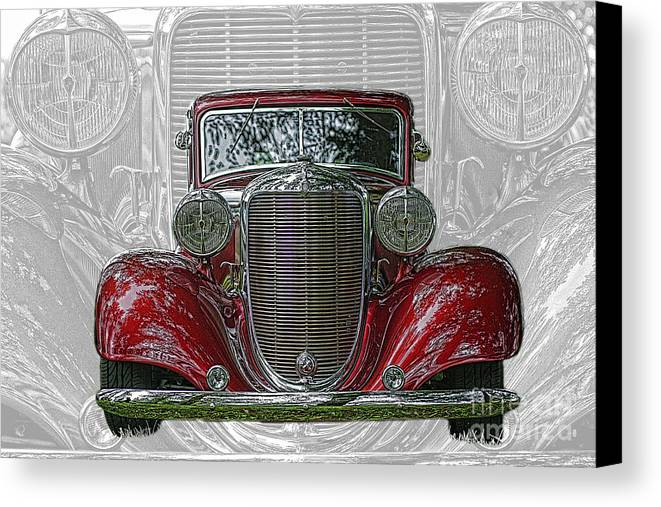 Cars Canvas Print featuring the photograph Old Desoto by Randy Harris