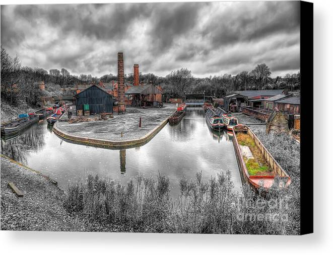 Architecture Canvas Print featuring the photograph Old Dock by Adrian Evans