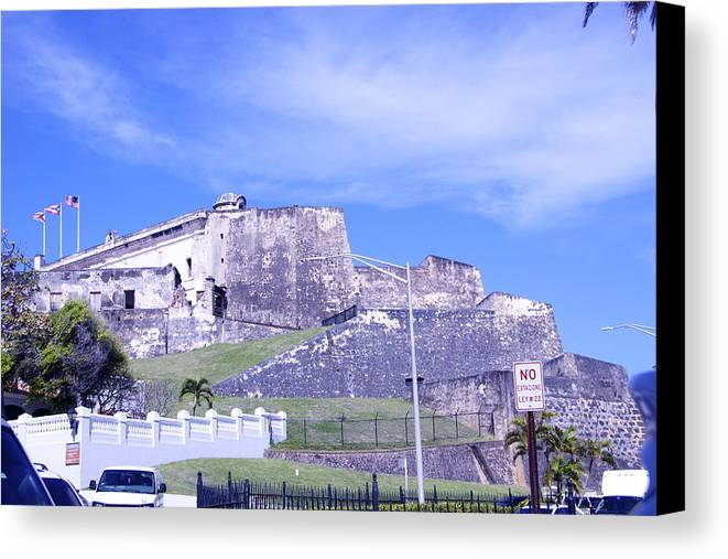 Fortification Canvas Print featuring the photograph Old Fort by Dick Willis