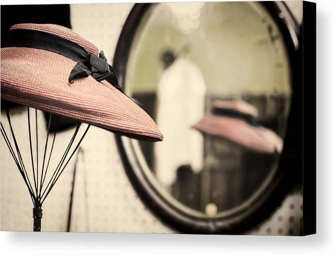 Hat Canvas Print featuring the photograph Old Hat by Heather Applegate