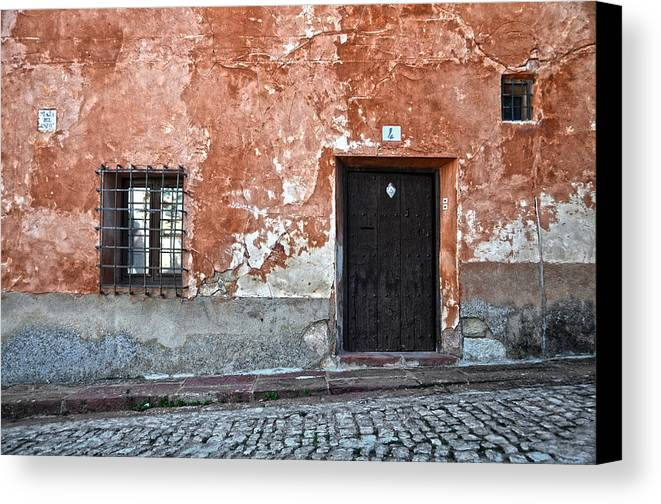 Ironwork Canvas Print featuring the photograph Old House Over Cobbled Ground by RicardMN Photography