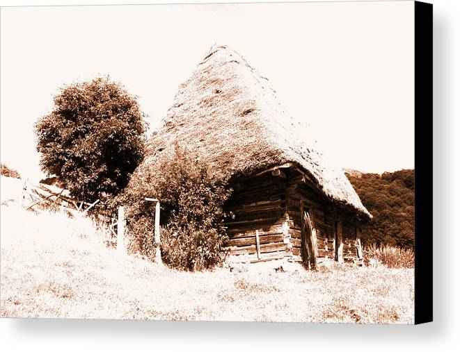 Old Photo Canvas Print featuring the photograph Old House Photo by Daniel Marius Aron