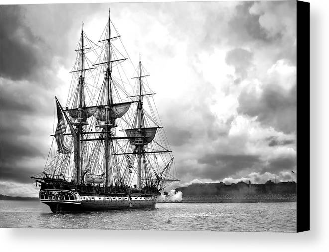 War Of 1812 Canvas Print featuring the digital art Old Ironsides by Peter Chilelli