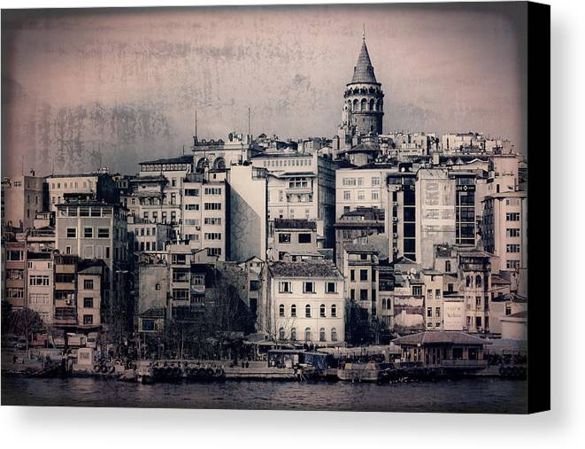 Galata Tower Canvas Print featuring the photograph Old New District by Joan Carroll