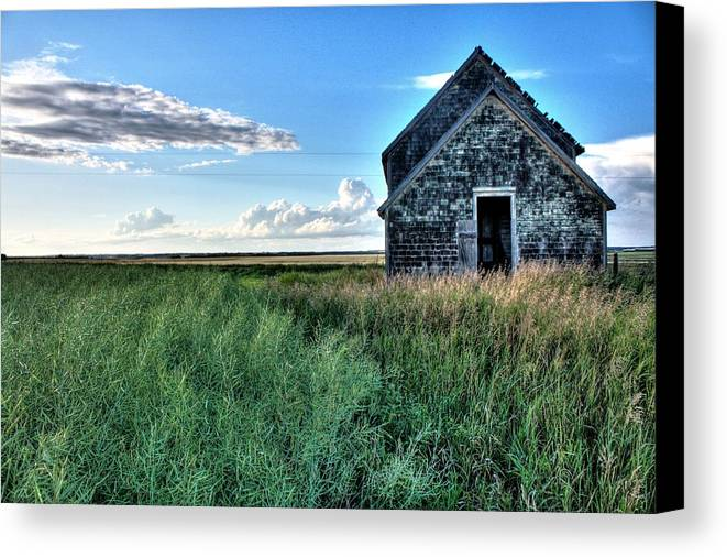 Red Barns Canvas Print featuring the photograph Old School House by David Matthews