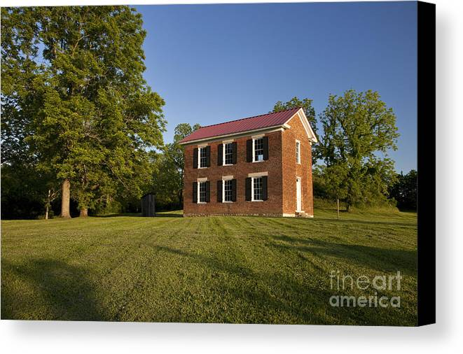 Old Schoolhouse Canvas Print featuring the photograph Old Schoolhouse by Brian Jannsen
