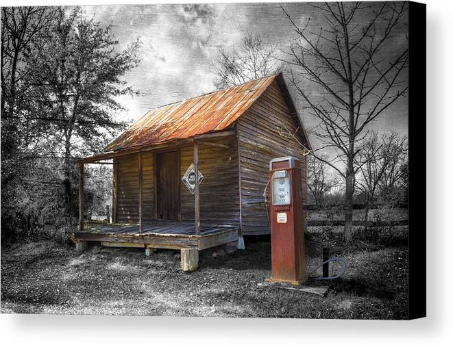 American Canvas Print featuring the photograph Olden Days by Debra and Dave Vanderlaan